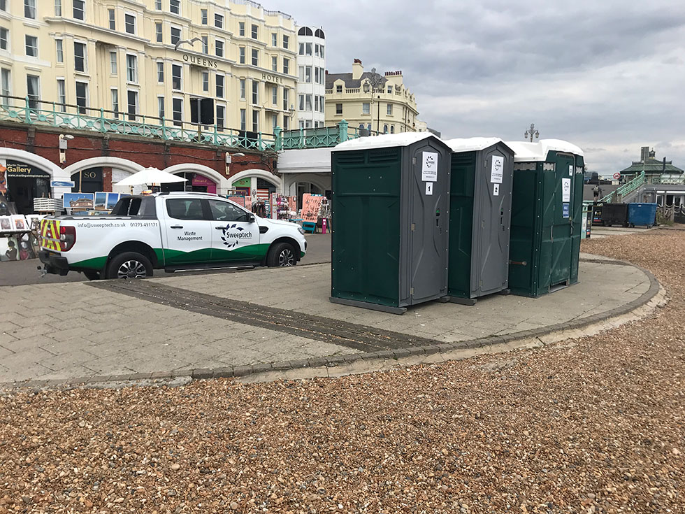 Brighton Beach portaloo